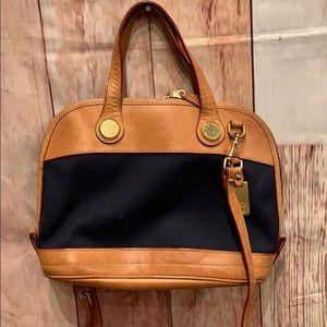 Dooney & Bourke Leather Small Zip Satchel Handbag